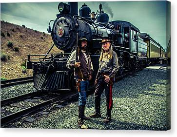 Two Gunfighters Canvas Print