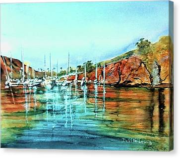Two Harbors Catalina Morning Impressions Canvas Print by Debbie Lewis