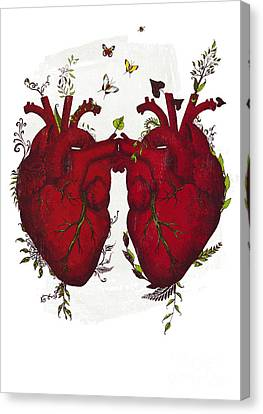 Two Hearts Beating As One Canvas Print