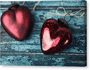 Two Hearts Canvas Print by Nailia Schwarz