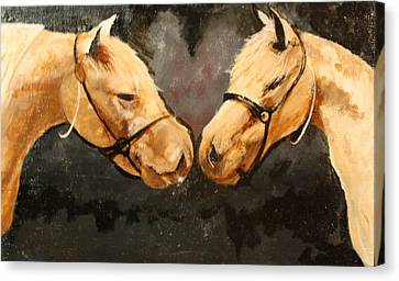 Two Horse Canvas Print by Shannon Rains