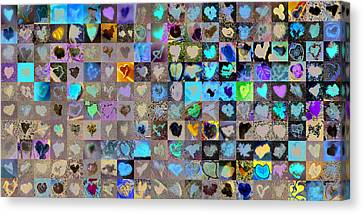 Abstract On Canvas Print - Two Hundred And One Hearts by Boy Sees Hearts