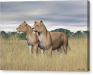 Two Hunters Canvas Print