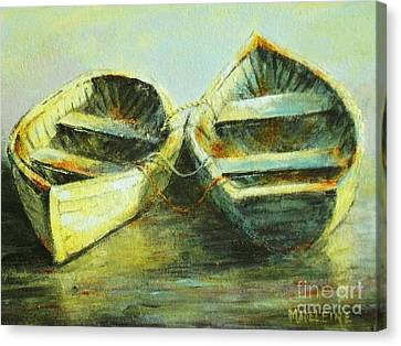 Two In A Row Canvas Print by Madeleine Holzberg