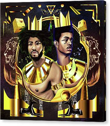 Two Kings Ian And Trevor Jackson Canvas Print by Kenal Louis
