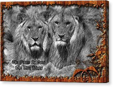 Two Lion Kings Canvas Print