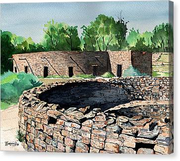 Two Kivas Aztec Ruins Canvas Print