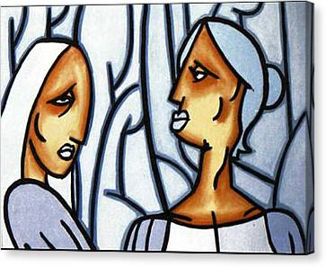 Two Ladies Canvas Print