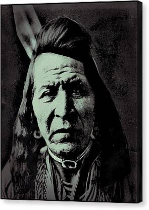 Two Leggings The Crow Canvas Print by Otis Porritt-Edward Curtis