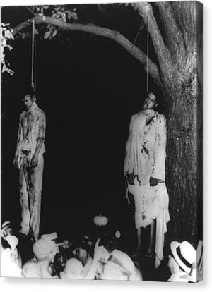 Race Discrimination Canvas Print - Two Lynched African American Men by Everett