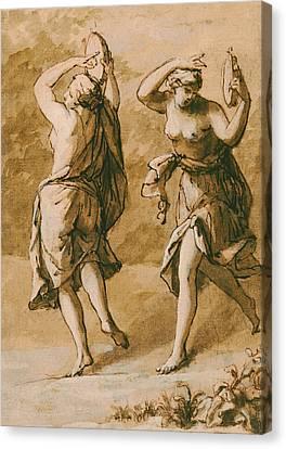 Two Maenads Canvas Print