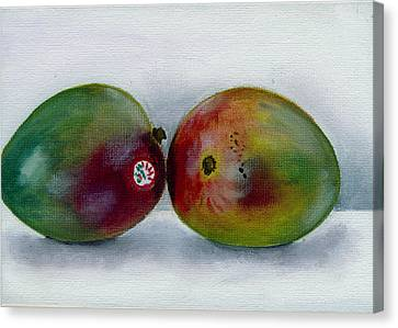 Two Mangoes Canvas Print by Sarah Lynch