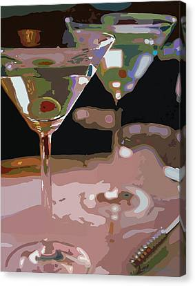 Two Martini Lunch Canvas Print by David Lloyd Glover