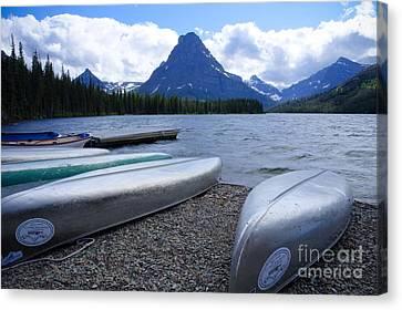 Two Medicine Lake Canvas Print by Idaho Scenic Images Linda Lantzy