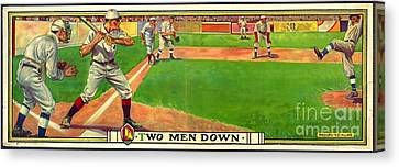 Two Men Down 1909 Canvas Print by Padre Art