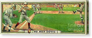 Sports Bar Canvas Print - Two Men Down by Jon Neidert