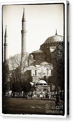 Sultanhmet Canvas Print - Two Minarets by John Rizzuto