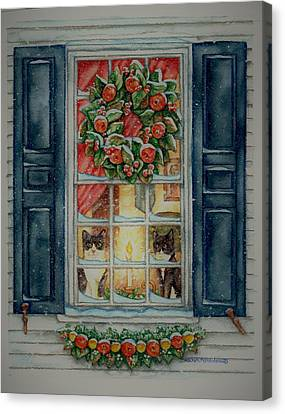 Two Muses Williamsburg Christmas Canvas Print by Beth Clark-McDonal