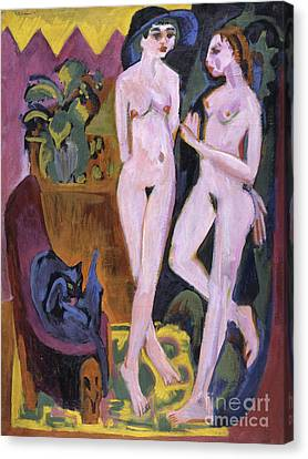 Two Nudes In A Room, 1914 Canvas Print