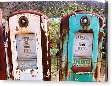 Two Old Gas Pumps Canvas Print by Matt Suess