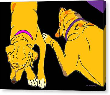 Two On The Floor Canvas Print by Su Humphrey