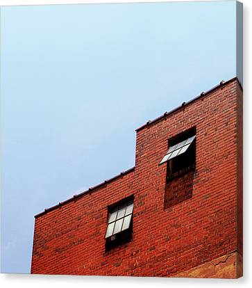 Two Open Windows- Nashville Photography By Linda Woods Canvas Print by Linda Woods