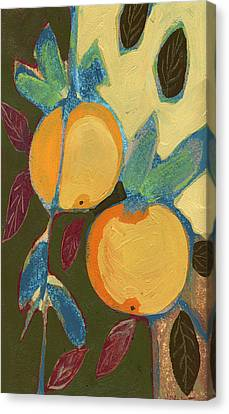Two Oranges Canvas Print by Jennifer Lommers