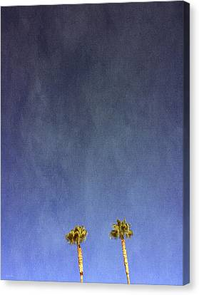 Palm Springs Canvas Print - Two Palm Trees- Art By Linda Woods by Linda Woods