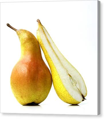 Foodstuffs Canvas Print - Two Pears by Bernard Jaubert