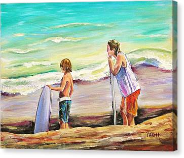 Two Perfect Waves Canvas Print by Patricia Piffath