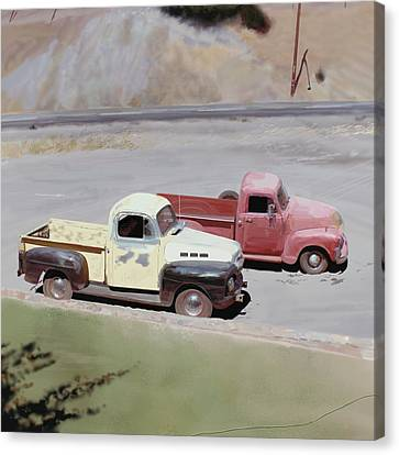 Two Pickups Canvas Print