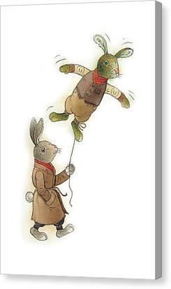 Two Rabbits 02 Canvas Print by Kestutis Kasparavicius