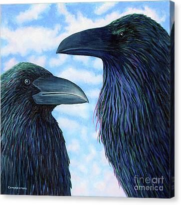 Two Ravens Canvas Print