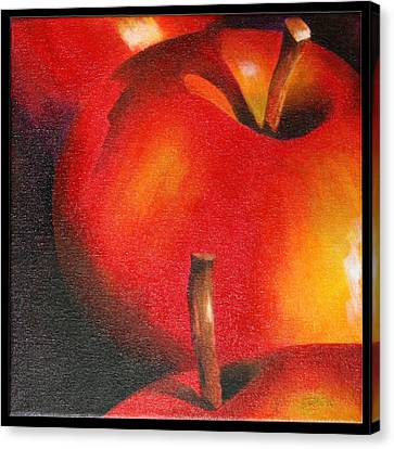 Two Red Apple Canvas Print by Pepe Romero