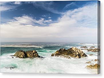 Canvas Print featuring the photograph Two Rocks In The Pacific Ocean by Jingjits Photography