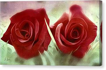 Two Roses Canvas Print by S Art