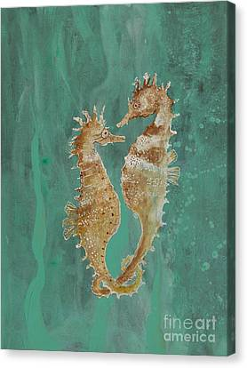 Two Seahorse Lovers Canvas Print by Robin Maria Pedrero