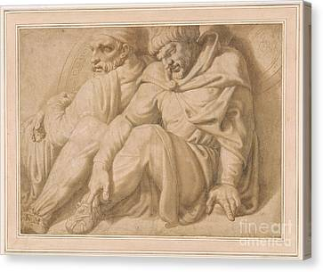 1596 Canvas Print - Two Seated Barbarian Captives by MotionAge Designs