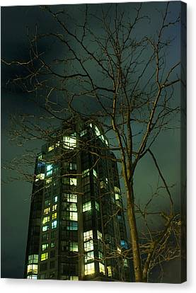 Two Skyscrapers Canvas Print by Barbara  White