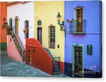 Streetlight Canvas Print - Two Staircases by Inge Johnsson