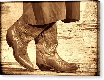 Two Step Canvas Print by American West Legend By Olivier Le Queinec