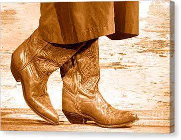Two Step - Sepia Canvas Print