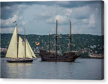 Two Tall Ships Canvas Print by Paul Freidlund
