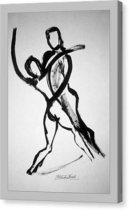 Canvas Print featuring the painting Two To Tango by Robert Kernodle