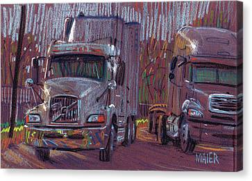 Two Trucks Canvas Print by Donald Maier