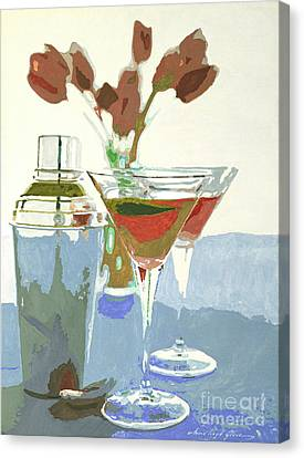 Two Tulip Martinis Canvas Print by David Lloyd Glover