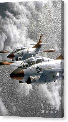 Two U.s. Navy T-2c Buckeye Aircraft Canvas Print by Stocktrek Images