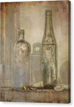Two Vintage Bottles Canvas Print