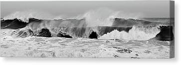 Two Waves Canvas Print - Two Waves Are Better Than One - Jersey Shore by Angie Tirado