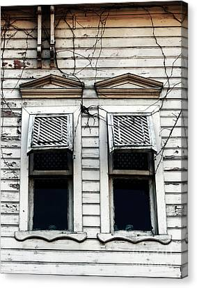 Sultanhmet Canvas Print - Two Windows by John Rizzuto